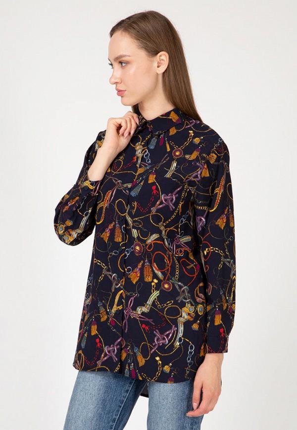 женская рубашка lilove, синяя
