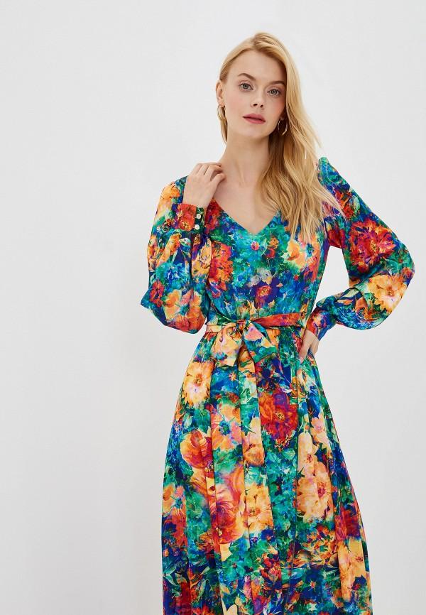 Фото 2 - Женское платье Ligvianni разноцветного цвета