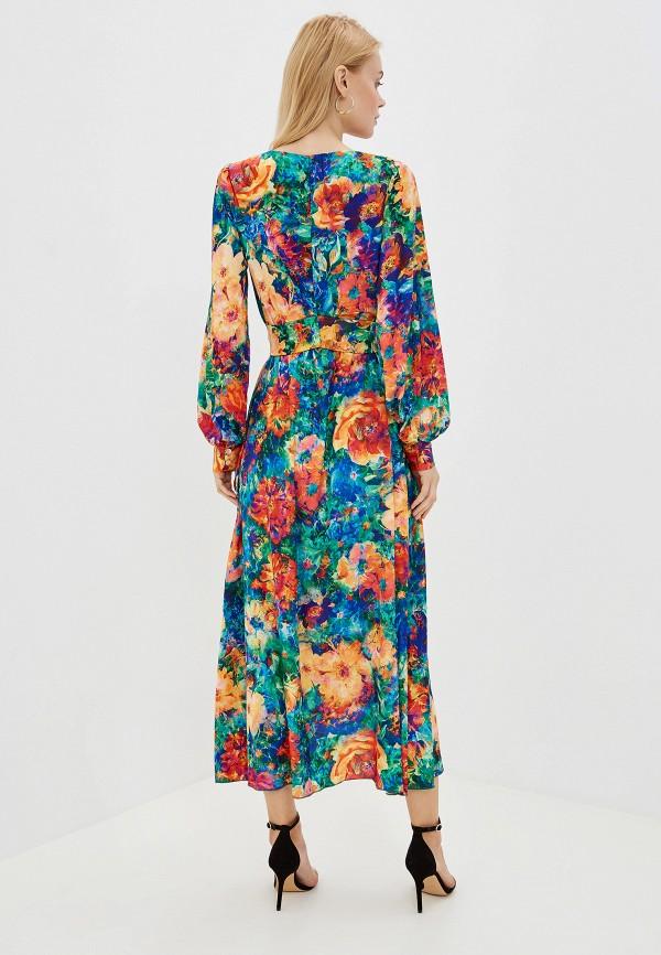 Фото 3 - Женское платье Ligvianni разноцветного цвета
