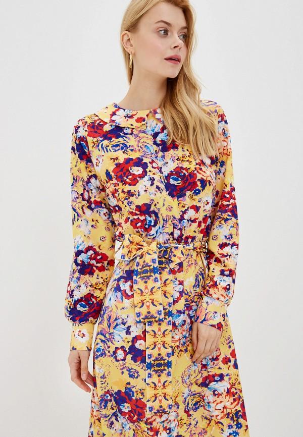 Фото 2 - Женское платье Ligvianni желтого цвета