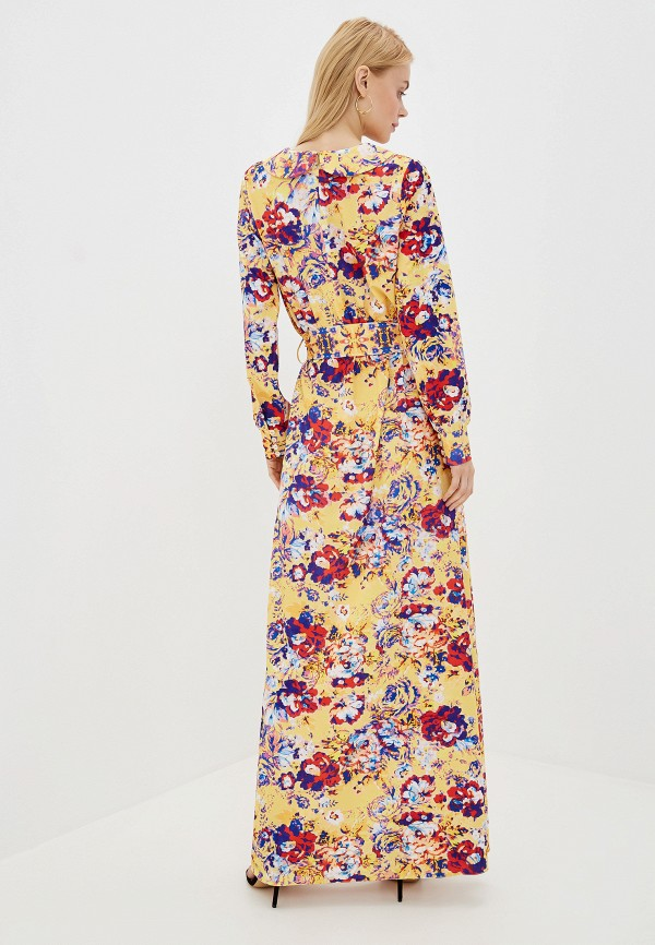 Фото 3 - Женское платье Ligvianni желтого цвета