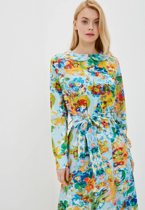 Фото 2 - Женское платье Ligvianni бирюзового цвета