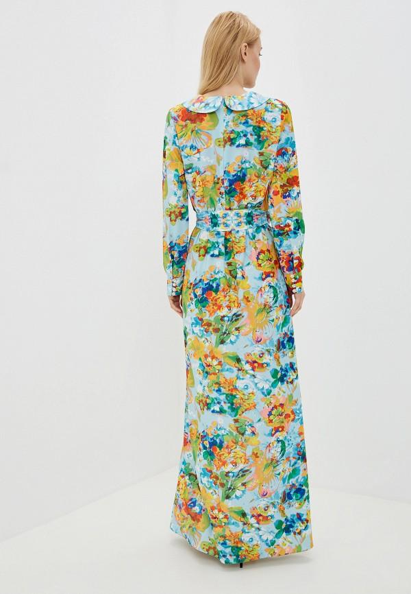 Фото 3 - Женское платье Ligvianni бирюзового цвета