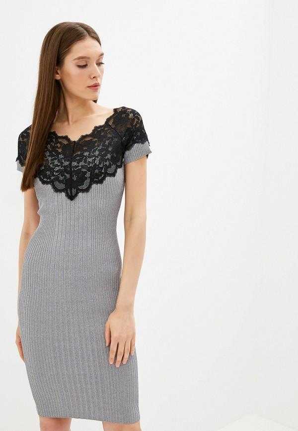женское платье love republic, серое