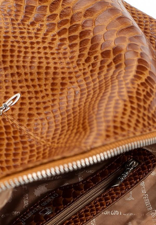 Фото 4 - Сумку Giorgio-Ferretti коричневого цвета