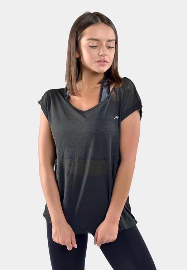 женская спортивные футболка avecs, серая