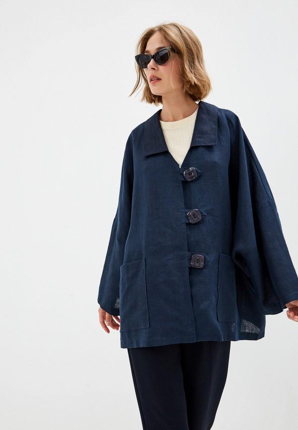 Фото 4 - Куртку Gabriela синего цвета