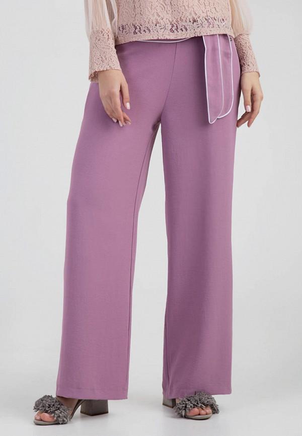 женские повседневные брюки das, фиолетовые