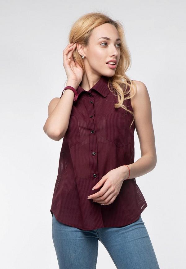 женская блузка modniy oazis, бордовая