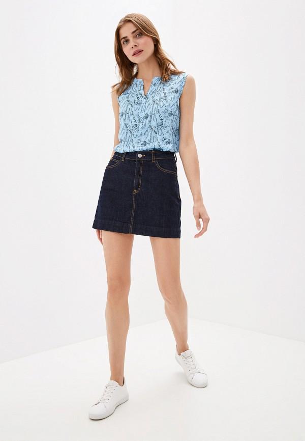 Фото 2 - Женскую блузку Elardis голубого цвета