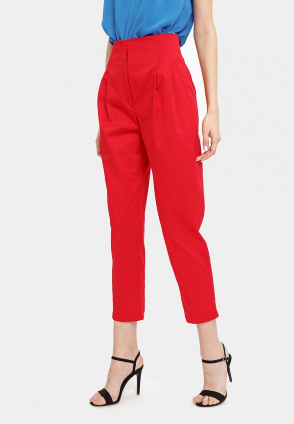 женские брюки bizzarro, красные