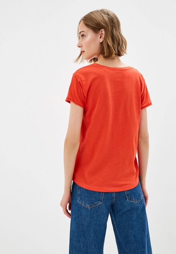 Фото 3 - Женскую футболку Top Secret красного цвета