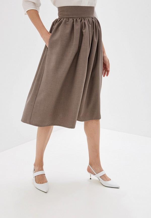 женская юбка alina assi, коричневая