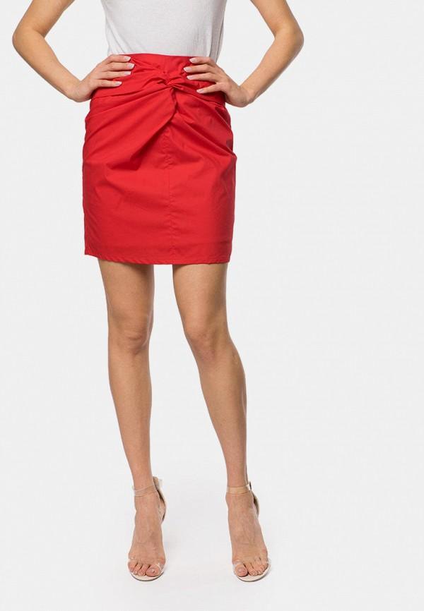 женская прямые юбка mr520, красная