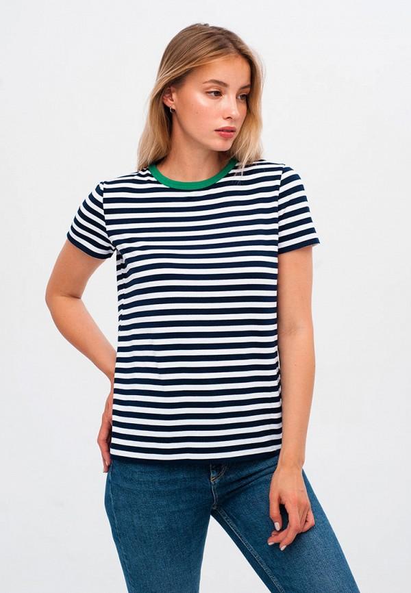 женская футболка gee!, синяя