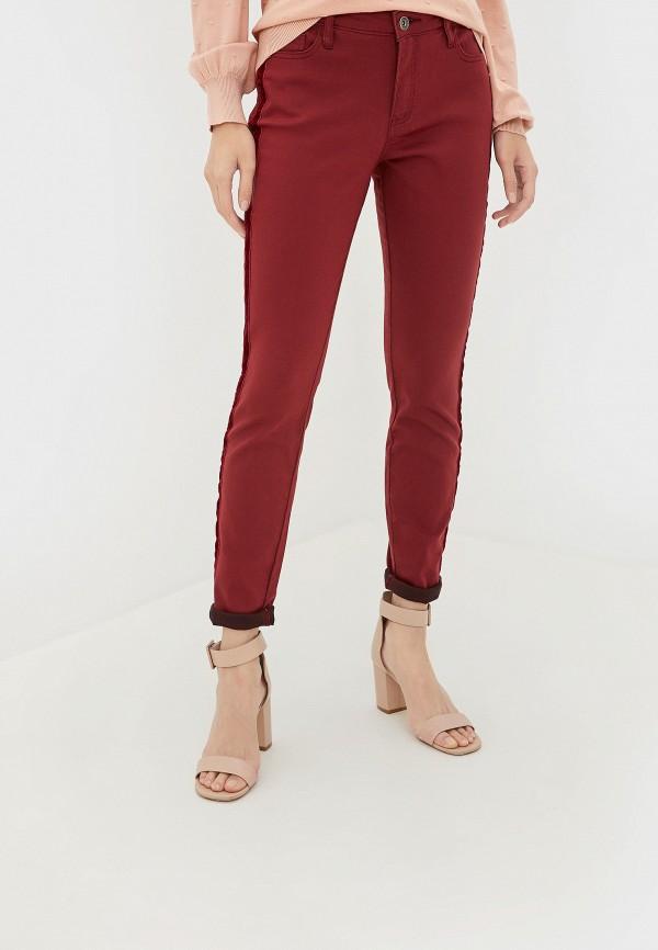 женские джинсы incity, бордовые