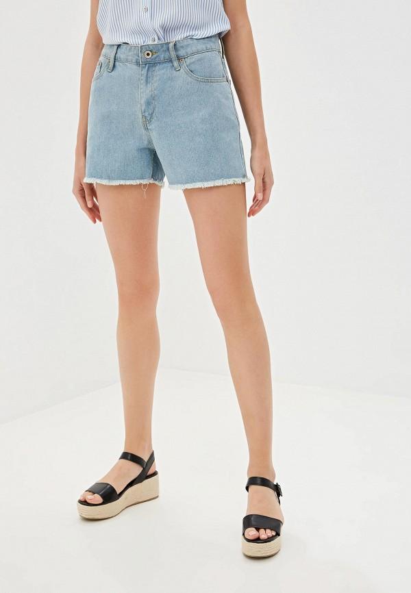женские шорты incity, голубые