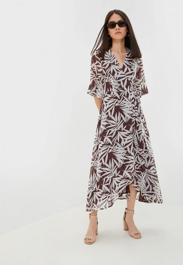 женское платье incity, коричневое