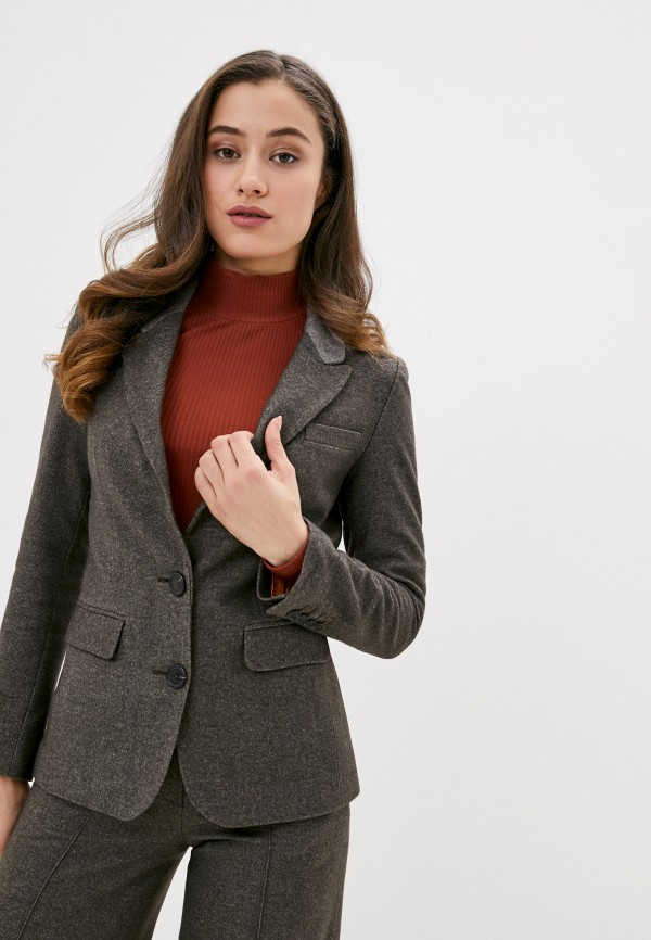 женский пиджак ummami, коричневый