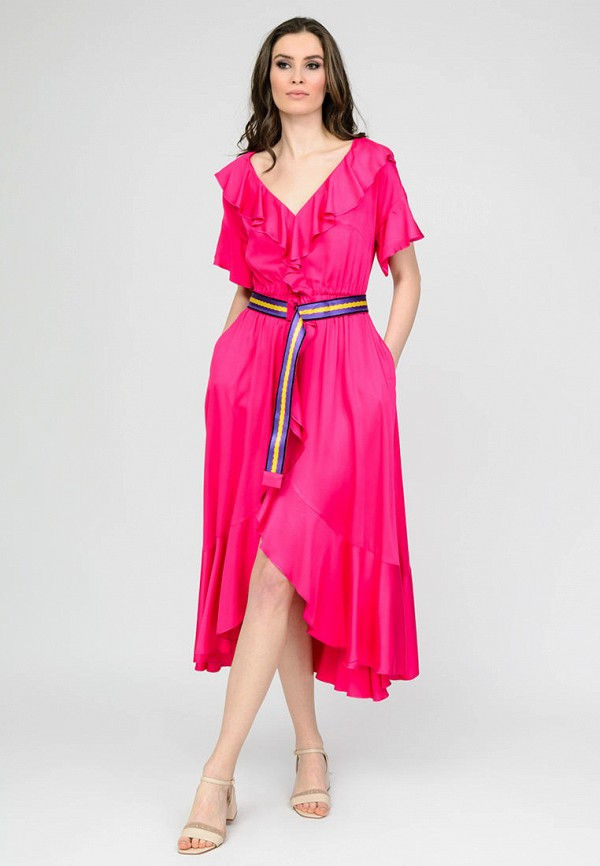 женское повседневные платье raslov, розовое