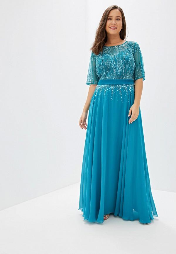 женское платье milomoor, бирюзовое
