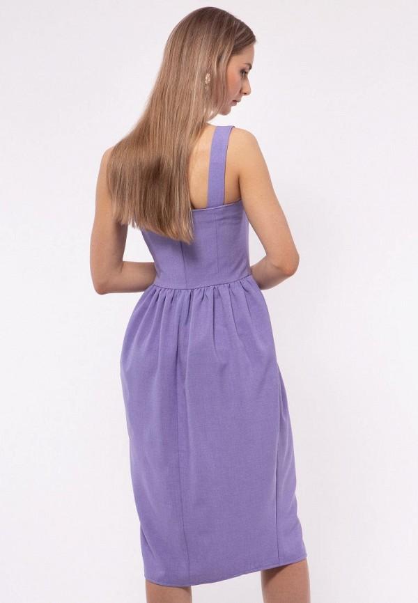 Фото 2 - Женское платье Vladi Collection фиолетового цвета
