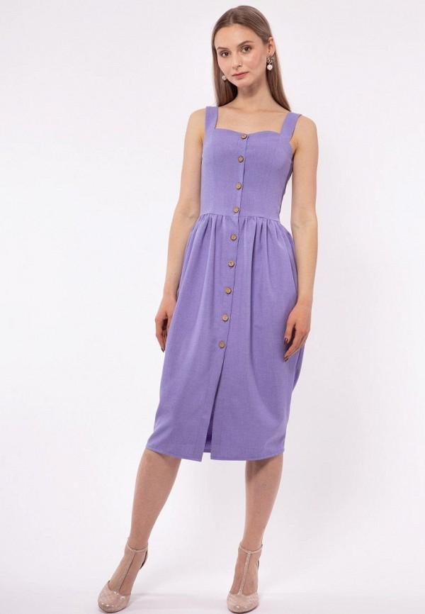 Фото 3 - Женское платье Vladi Collection фиолетового цвета
