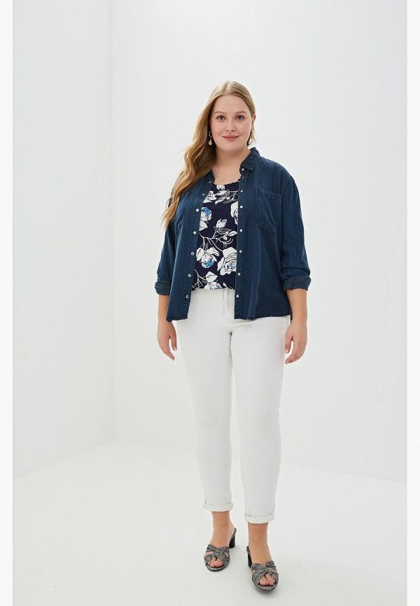 Фото 2 - Женскую блузку PreWoman синего цвета