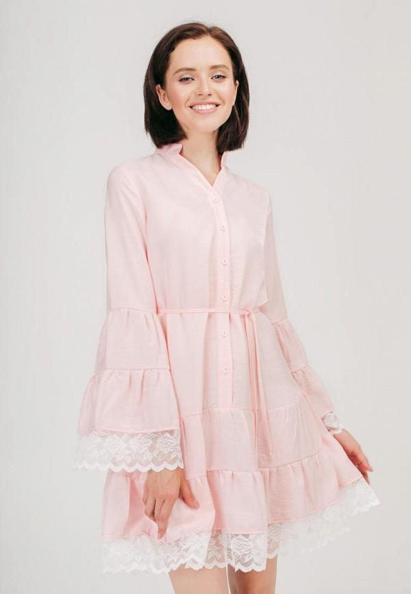 женское платье bessa, розовое