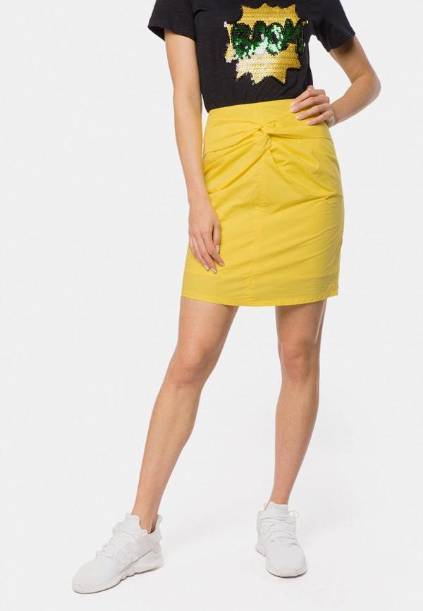 женская прямые юбка mr520, желтая