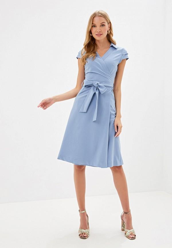 Фото 2 - Женское платье Bezko голубого цвета