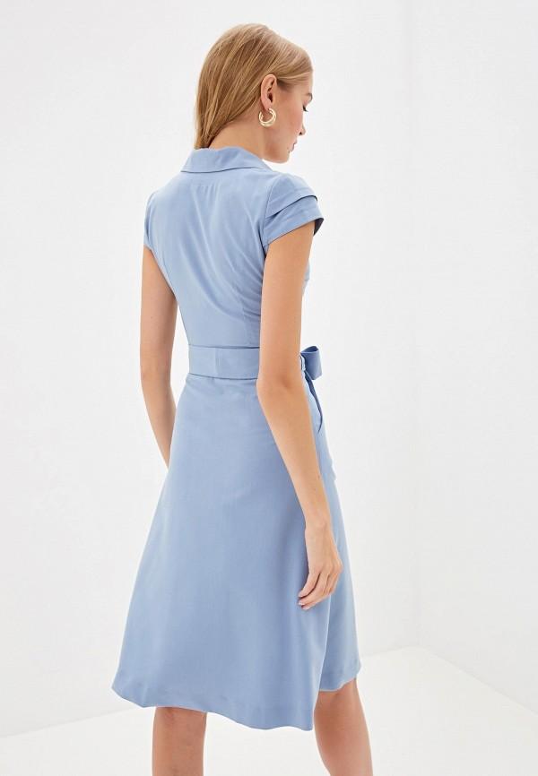 Фото 3 - Женское платье Bezko голубого цвета