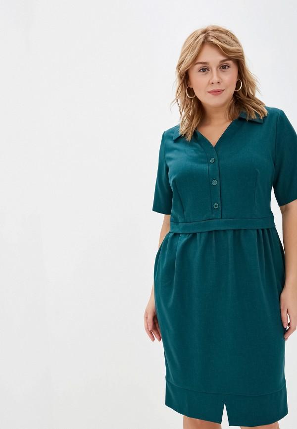 Фото 2 - Женское платье Bordo зеленого цвета