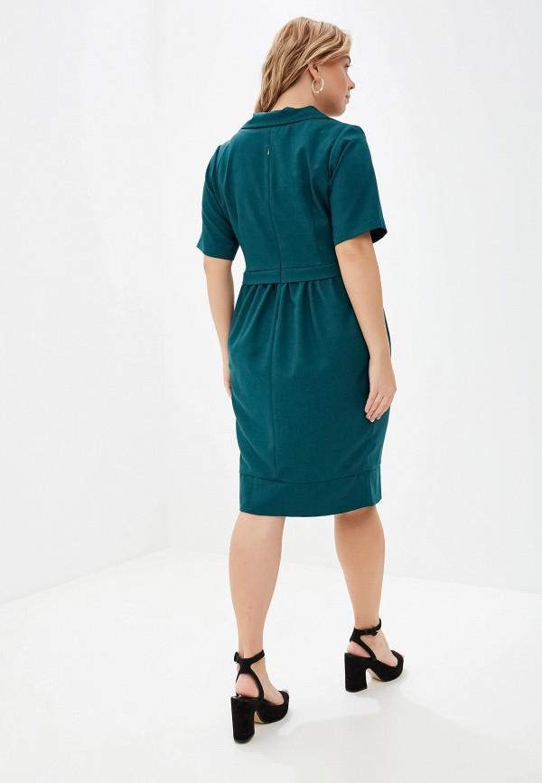 Фото 3 - Женское платье Bordo зеленого цвета
