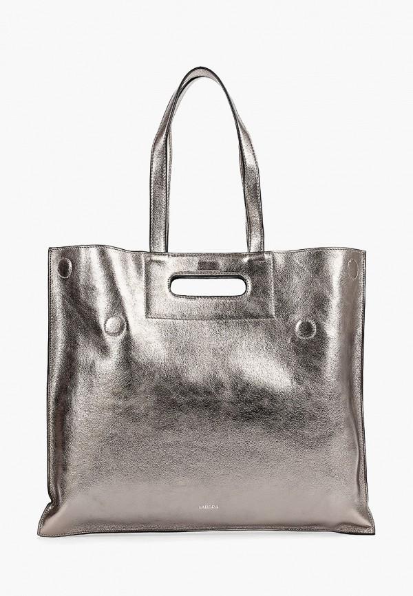 женская сумка labbra, серебряная