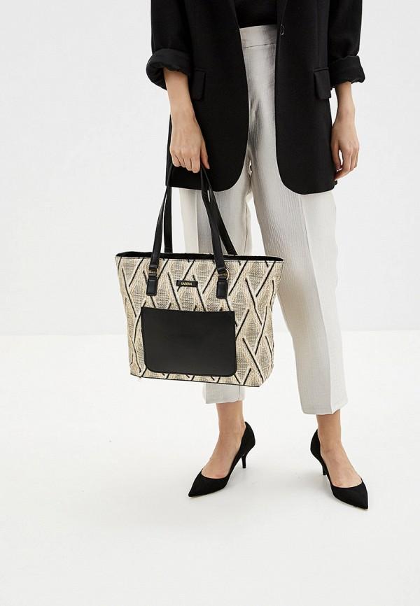Фото 4 - Женские сумки и аксессуары Labbra бежевого цвета