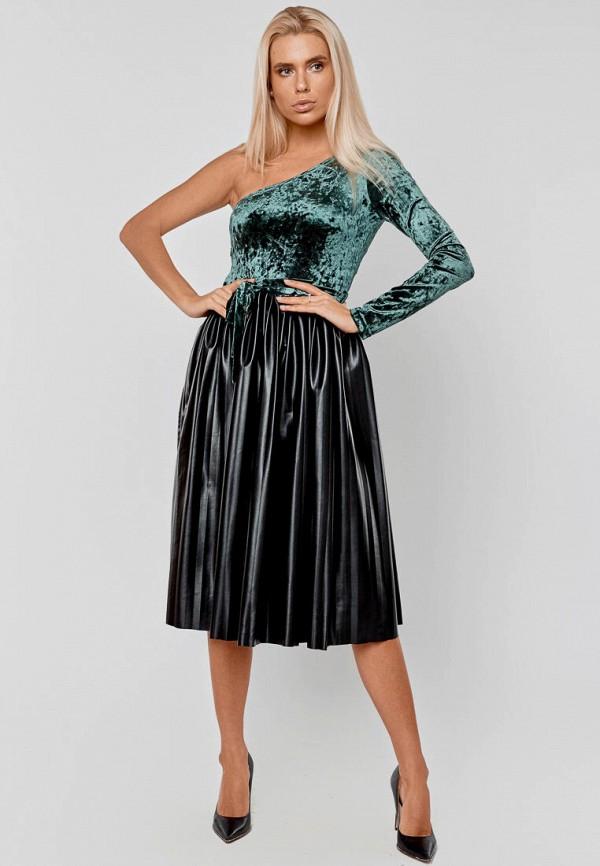 женское вечерние платье elena pokalitsina, зеленое