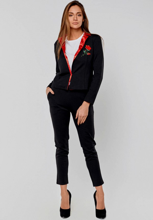 женский костюм elena pokalitsina, черный