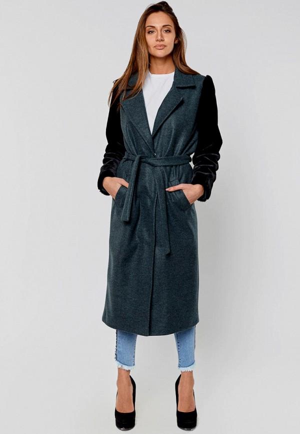 женское пальто elena pokalitsina, бирюзовое