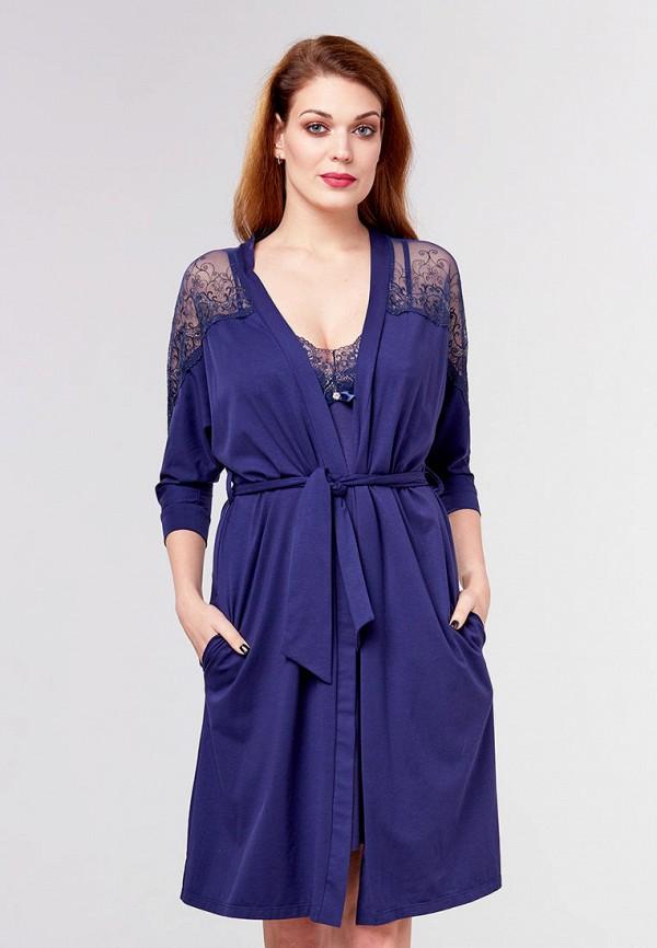 женский халат ora, синий
