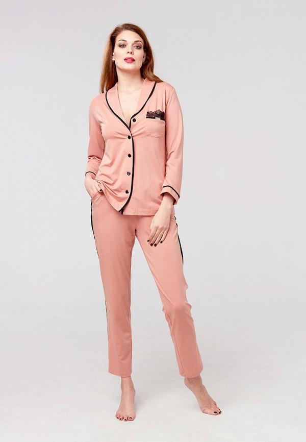 женская пижама ora, розовая