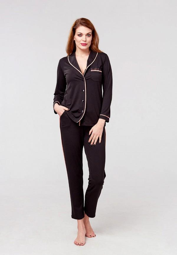 женская пижама ora, черная