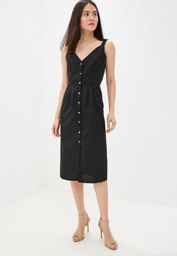 Фото 2 - Платье GALOLBO черного цвета