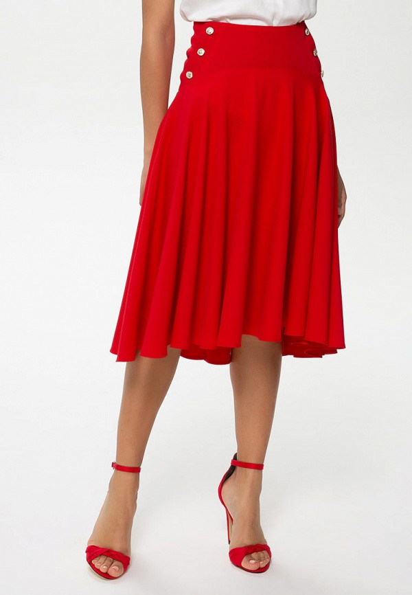 женская юбка anushka by anna pavlova, красная