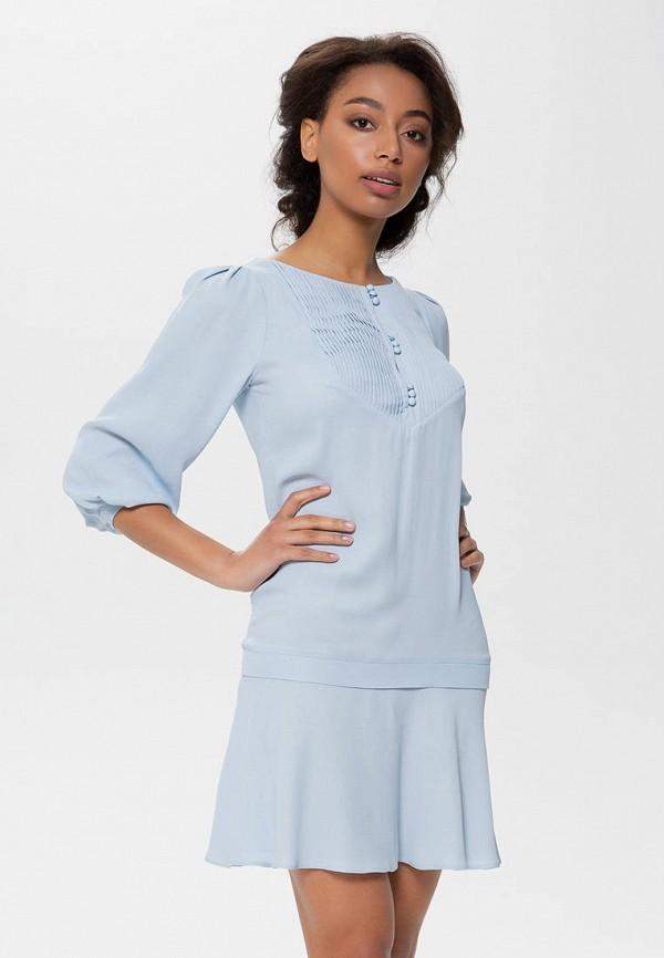женское повседневные платье anushka by anna pavlova, голубое