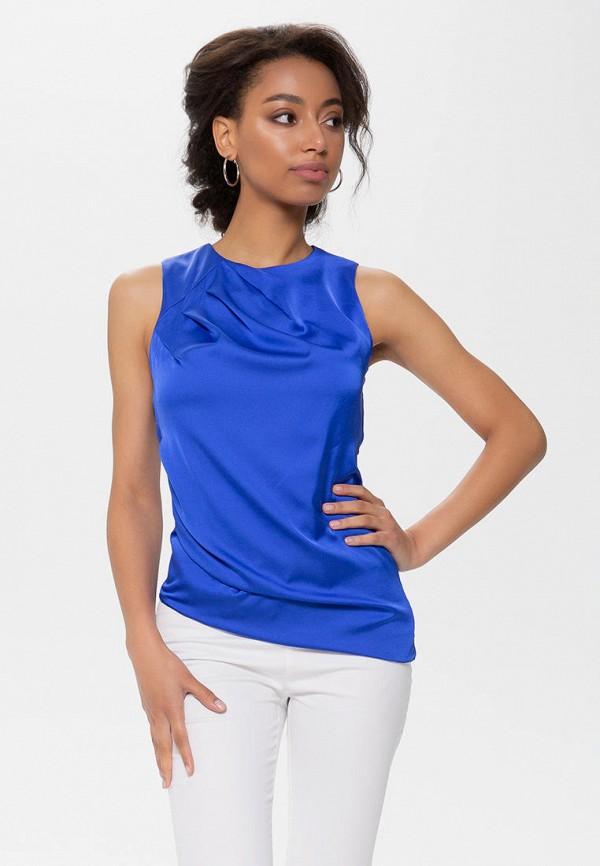 женская блузка anushka by anna pavlova, синяя
