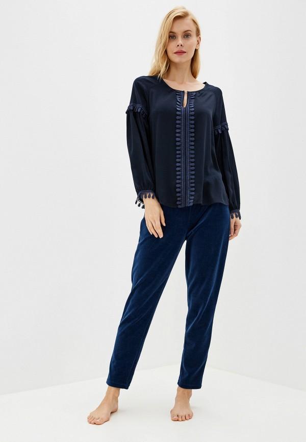 Фото 2 - Женскую блузку Laete синего цвета