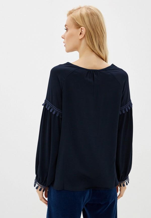 Фото 3 - Женскую блузку Laete синего цвета