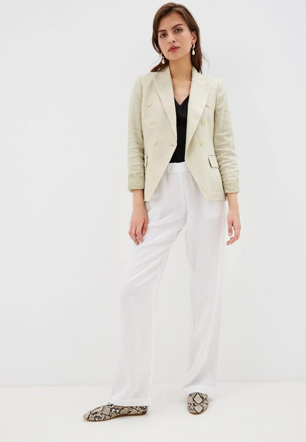 Фото 2 - Женские брюки Laete белого цвета