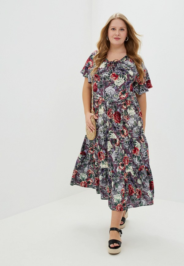 женское платье артесса, фиолетовое